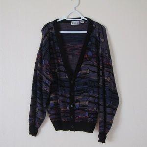Vintage Oversized Dad Cardigan Sweater, XL
